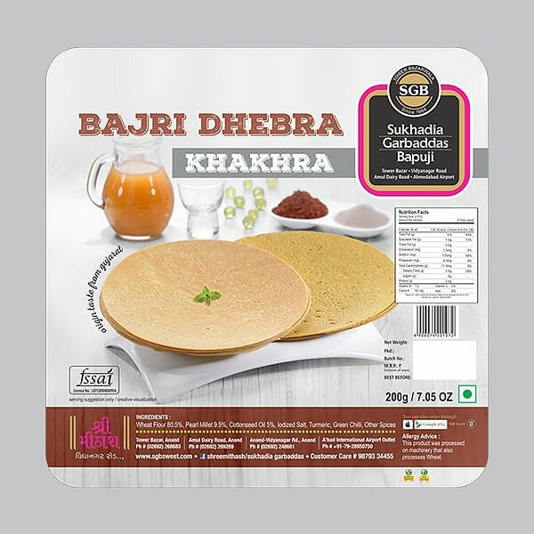 Bajri Dhebra Khakhra