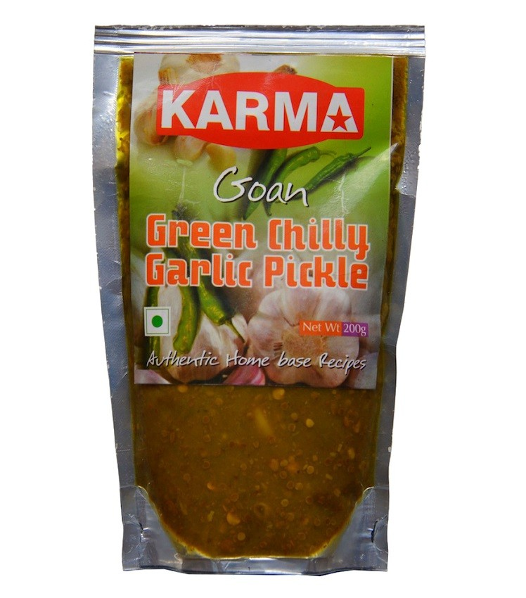 Green Chilly Garlic Pickle