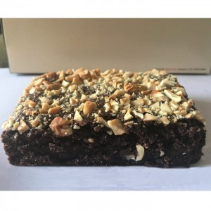 Eggless Roasted Nuts Brownie